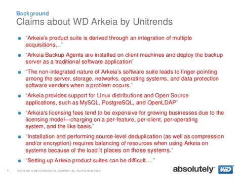 WD Arkeia vs. Unitrends: Just the Facts.