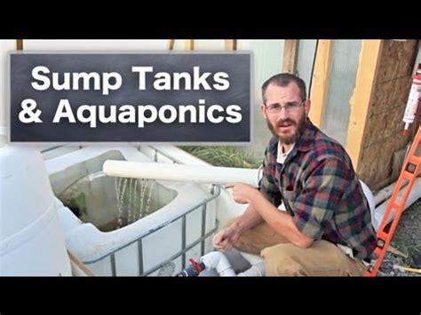 sump tanks  aquaponics hydroponics youtube