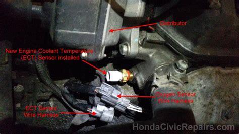 03 Civic Si Engine Wire Harnes Fan by Engine Coolant Temp Sensor Honda