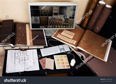 Interior Designers Workplace Architectural Project On