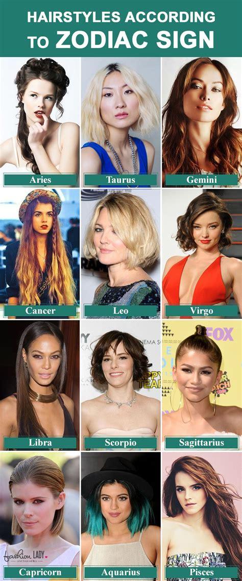 sun sign hairstyles style  hair   zodiac
