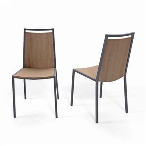 chaise de cuisine bois chaise de cuisine en métal et bois concept 4 pieds
