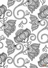 Coloring Pattern Pages Lotus Printable Flower Sheets Patterned Adults Abstract Supercoloring Flowers Paper Dot Drawing Categories sketch template