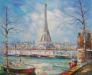 Peinture De Paris Poissy : schilderij eiffeltoren seine ~ Premium-room.com Idées de Décoration