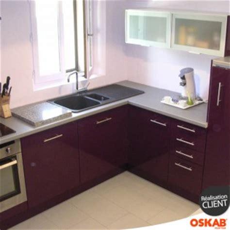 couleur aubergine cuisine cuisine design en u couleur aubergine oskab