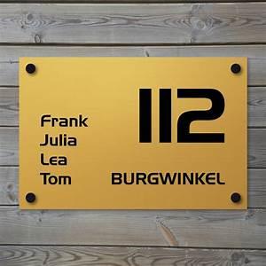 Plaque Numero Maison : plaque de maison en aluminium couleur or creativ 39 sign ~ Teatrodelosmanantiales.com Idées de Décoration