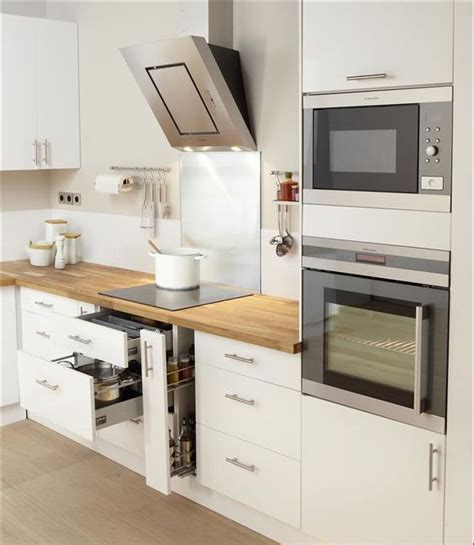 cuisine et blanc blanc et bois kitchen design
