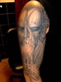 Alien Half Sleeve Tattoo Design for Men