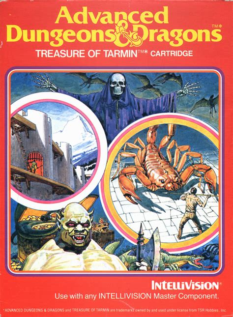 advanced dungeons dragons treasure  tarmin cartridge
