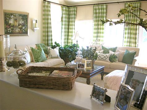 Green Living Room Next by Pretty Buffalo Check Curtains In Living Room Traditional