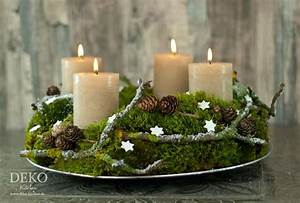 Deko Weihnachten Adventskranz : diy adventskranz aus naturmaterial mit moos zweigen deko kitchen basteln pinterest ~ Sanjose-hotels-ca.com Haus und Dekorationen