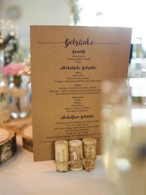 getraenkekarte hochzeitsideen   casamento rustico