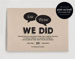 best 25 elopement announcement ideas on pinterest With wedding invitations vs announcements
