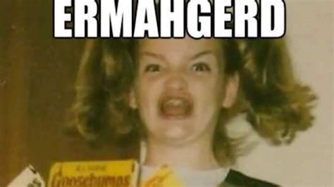 Goosebumps Girl Meme - ermahgerd girl face www pixshark com images galleries with a bite