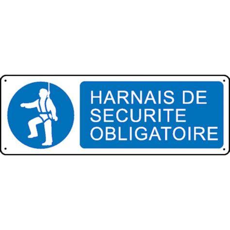 bureau de contr e obligatoire panneau harnais de sécurité obligatoire stocksignes