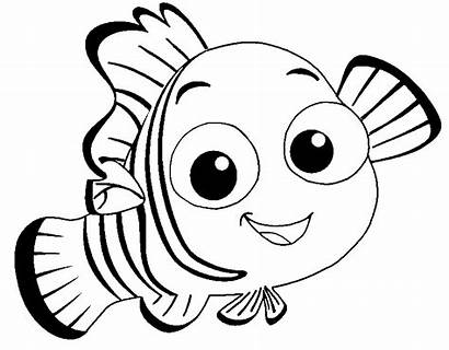 Smile Nemo Finding Coloring Pages Printable