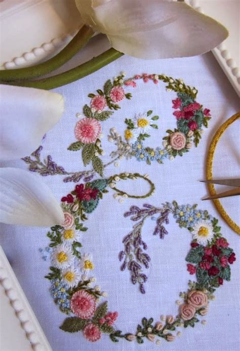 hand embroidered monograms images  pinterest embroidery monogram  monograms