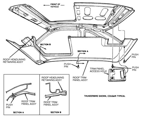 service manual   install  sunroof    ford