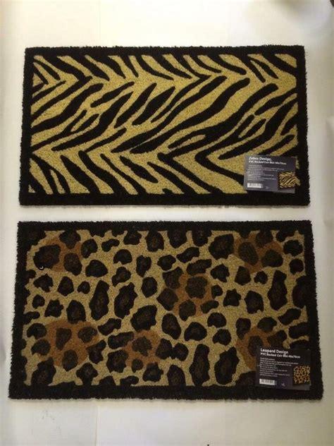 Zebra Doormat by Large Zebra Leopard Paw Animal Print Entrance In Out Door
