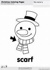 Scarf Snowman Coloring Songs Simple Super Song Printables Im Supersimple Contains sketch template