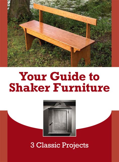 shaker furniture plans dont