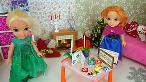 Elsa and Anna toddlers get ready for Christmas - YouTube