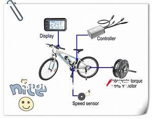 Xmk Electric Bike System Kit  Meter Controller Motor