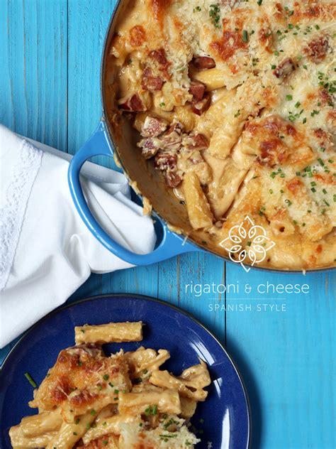 rigatoni cheese rigatoni cheese spanish style flavor and friends
