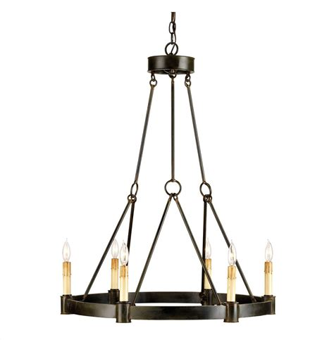 charmont country black wrought iron 6 light