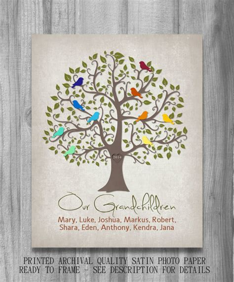 items similar to our grandchildren personalized gift