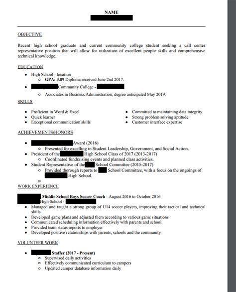 recent high school graduate resume resume ideas