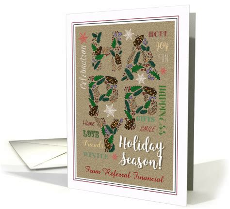 happy holidays generic holiday season wishes  clients card