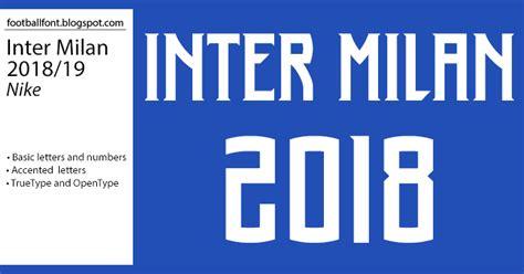 Inter Milan 2018/2019 Season Jersey Font