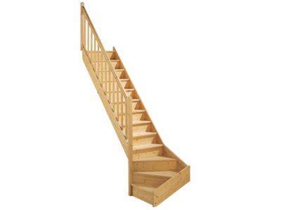 escalier quart tournant gauche en bois st 233 phanie