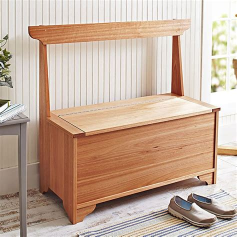 indooroutdoor storage bench woodworking plan  wood