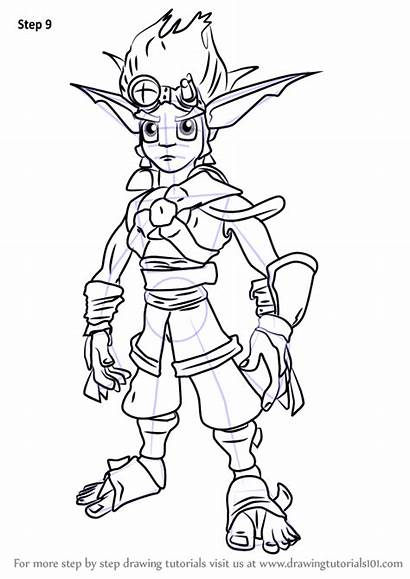 Draw Jak Daxter Pages Drawing Step Coloring