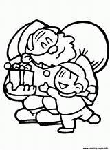 Coloring Santa Pages Christmas Printable Gift Give Claus Horse Fun Redneck Kid Gifts Santa1 Fish Animals Handing sketch template