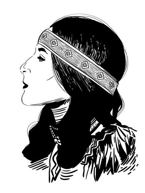 Native american indian woman in traditional costume. native american woman Vector - Download Free Vector Art ...