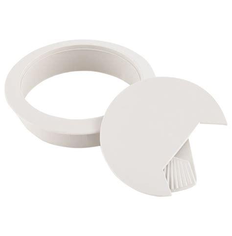 bureau en plastique passe câbles pour bureau orga en matière plastique grise