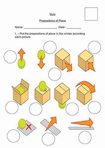 Quiz Of Prepositions Of Place