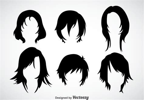 Girl Hairstyles Vector Sets   Download Free Vector Art