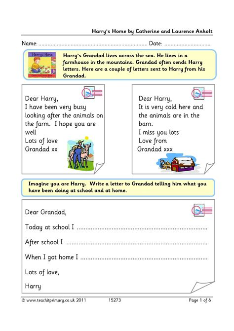 letter writing writing composition english resources