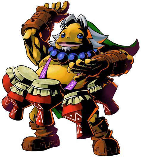 The Legend Of Zelda Majoras Mask 3d Goron Link And Drums