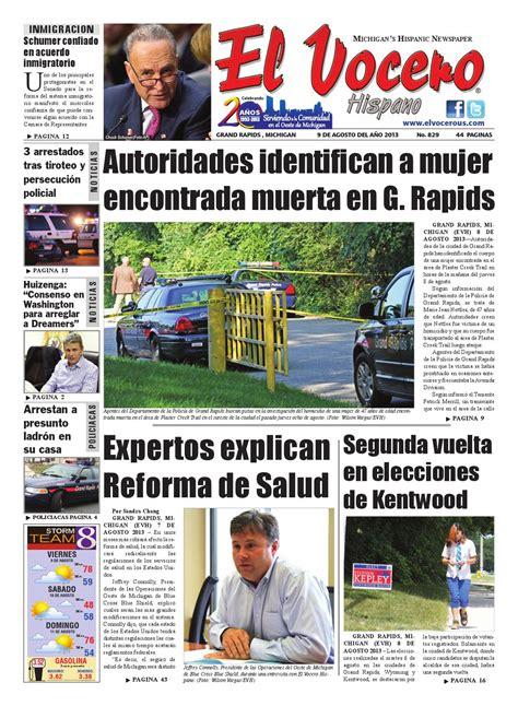 El Vocero Hispano 9 de Agosto 2013 by Ervin Jose Palacios
