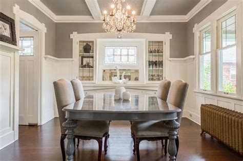 neutral  chic palette wainscoting  built ins
