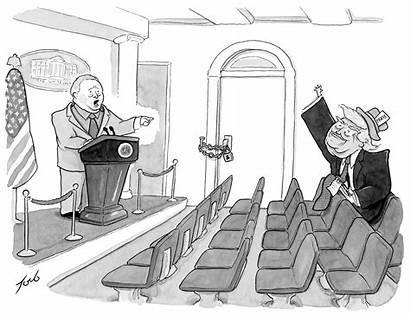 Cartoon Daily Cartoons Trump Yorker Reporter Tuesday