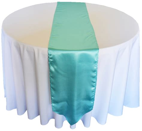 Tiffany Blue Aqua Satin Table Runners Sale