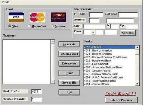 funformasti credit card generator  cvv