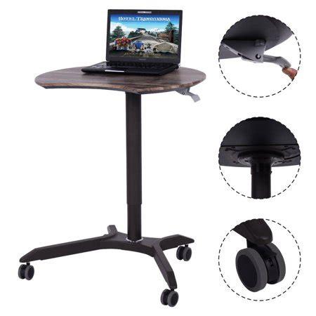 rolling computer desk costway rolling laptop computer desk height adjustable