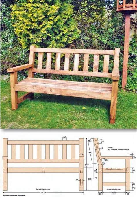 ideas  garden bench plans  pinterest